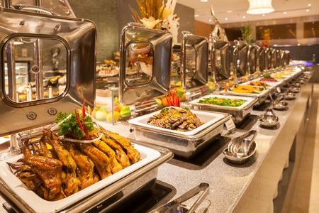 buffet de hotel similar al que se verá en el curso